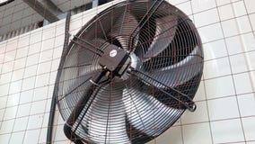 Einheit der industriellen Klimaanlage im Freien Fanrotation stock footage