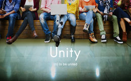 Einheits-Gemeinschaftsverbindungs-Zusammenarbeit Team Concept stockfoto