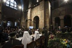 Einheits-Rat der ukrainischen orthodoxen Kirchen stockbilder