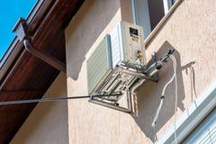 Einheitskompressor der Klimaanlage im Freien lizenzfreies stockfoto