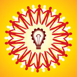 Einheitssymbol mit Ideenkonzept Lizenzfreies Stockfoto