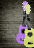 Einige Akustikgitarren im Hintergrund Schreiben Sie Text Lizenzfreie Stockfotografie