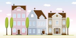 Einige alte Häuser vektor abbildung