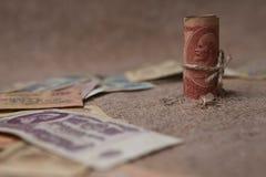 Einige alte sowjetische Banknoten Lizenzfreies Stockbild
