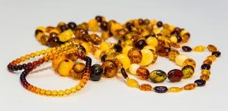Einige Arten bernsteinfarbige Halskette Lizenzfreies Stockfoto