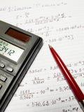 Einige Berechnungen Lizenzfreies Stockbild