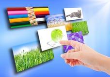 Einige Bilder auf Hintergrund Lizenzfreies Stockbild