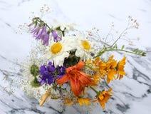 Einige Blumen von der Wiese Stockbild