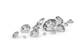 Einige Diamanten. Lizenzfreies Stockfoto