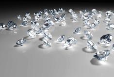 Einige Diamanten auf dem Boden stock abbildung