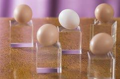 Einige Eier auf einem hellen Hintergrund Lizenzfreies Stockfoto