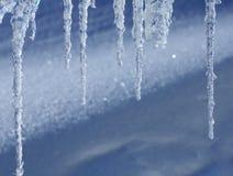 Einige Eiszapfen Lizenzfreie Stockbilder