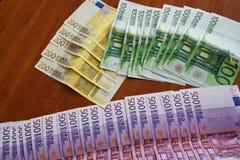 Einige Eurobanknoten Lizenzfreies Stockbild