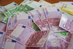 Einige Eurobanknoten Lizenzfreie Stockfotografie