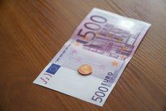 Einige Eurobanknoten Stockfotos