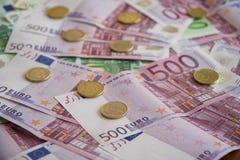 Einige Eurobanknoten Lizenzfreie Stockbilder