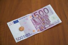 Einige Eurobanknoten Lizenzfreies Stockfoto