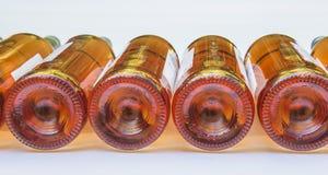 Einige Flasche Roséwein Stockbild