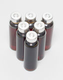 Einige Flaschen flüssige Medizin stockfoto