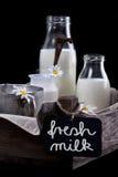 Einige Gläser mit Milch Lizenzfreies Stockbild