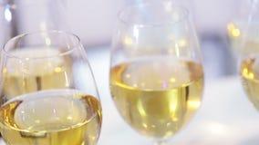 Einige Gläser Wein stock footage
