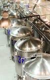 Einige glatte zylinderförmige Stahlbehälter Lizenzfreie Stockfotos