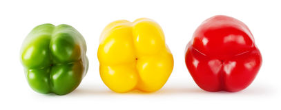 Einige helle farbige Pfeffer Lizenzfreies Stockbild