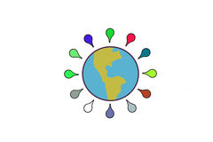 Einige Kennzeichen auf der Erde Lizenzfreie Stockfotos