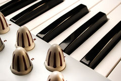 Einige Klavier-Schlüssel eines modularen synthesizers Lizenzfreie Stockfotos