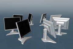 Einige LCD-Überwachungsgeräte 01 vektor abbildung