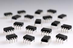 Einige Mikrochips Stockfotografie