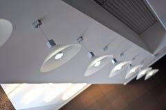 Einige moderne Leuchter stockfoto