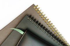 Einige Notizbücher. stockfotos