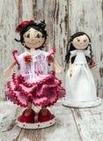 Einige Puppen Stockfoto
