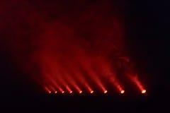 Einige rote Discolichter Lizenzfreies Stockbild