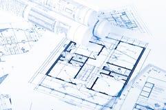 Einige technische Konstruktionszeichnungen Lizenzfreie Stockfotografie