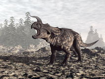Einiosaurus dinosaur - 3D render Royalty Free Stock Photography