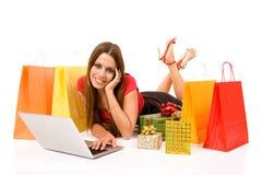 Einkauf über Internet Lizenzfreie Stockbilder