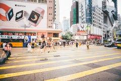 Einkauf auf Damm-Bucht in Hong Kong, China Stockbilder