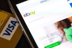 Einkauf auf Ebay lizenzfreies stockbild