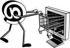 Einkauf auf Internet Stockfotos