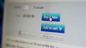Einkauf auf Linie stock video footage
