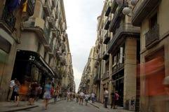 Einkauf in Barcelona Stockbild