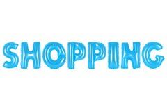 Einkauf, blaue Farbe Lizenzfreies Stockfoto