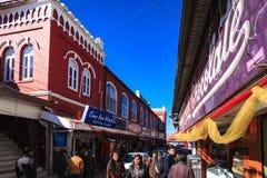 Einkauf in der Mallstraße, Mussoorie Stockfotos