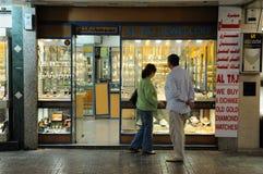 Einkauf Dubais am Gold Souk Lizenzfreie Stockbilder
