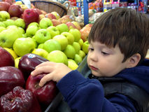 Einkauf für Äpfel Lizenzfreie Stockbilder