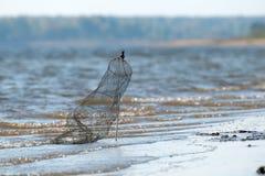 Einkauf für die Speicherung von gefangenen Fischen Stockbild