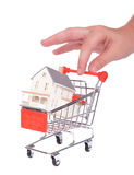 Einkauf für ein Haus Stockbilder