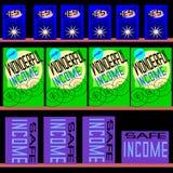 Einkauf für Einkommen Lizenzfreie Stockbilder